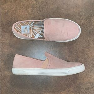 DV Blush Pink Faux Suede Slip On Sneakers